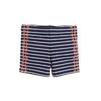 Girls' tumble short in embroidered stripe