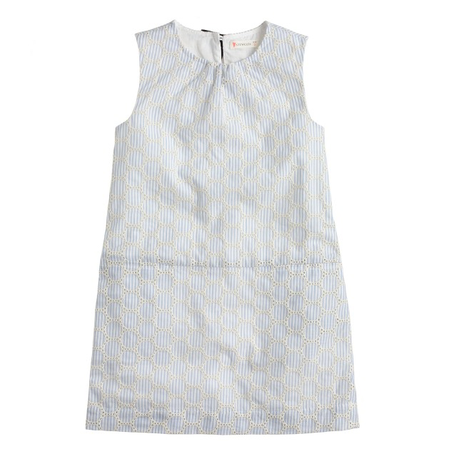 Girls' eyelet seersucker dress