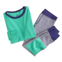 Boys' pajama set in contrast-stripe