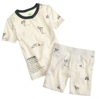 Boys' short-sleeve pajama set in shark tooth