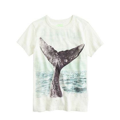 Boys' whale dive tee