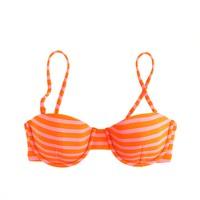 Sailor-stripe underwire top