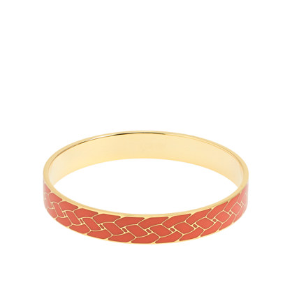 Mini etched enamel bangle