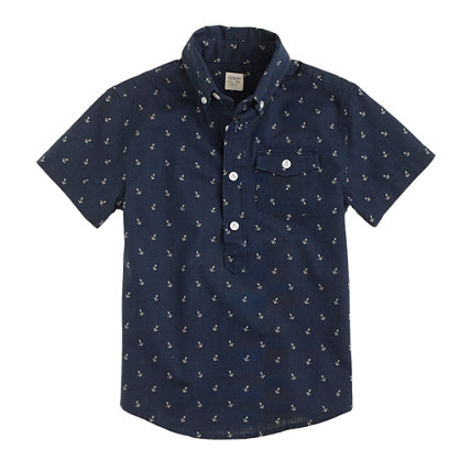 Boys' anchor print popover