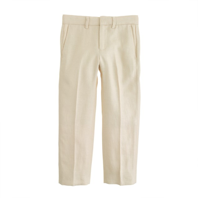 Boys' slim Ludlow suit pant in linen