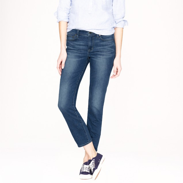 Reid crop jean in medium Oxford wash