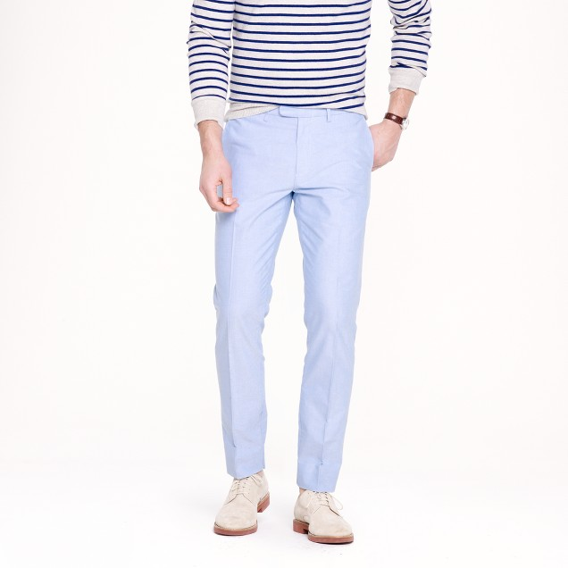 Bowery slim in cotton oxford cloth