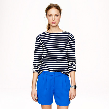 Pleated crepe short