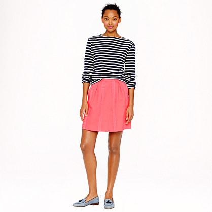Lace-stripe skirt