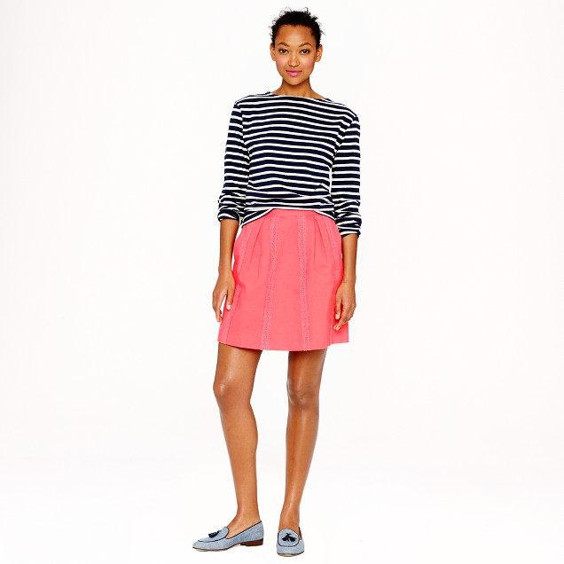 Lace-stripe skirt