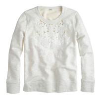 Cutout floral sweatshirt