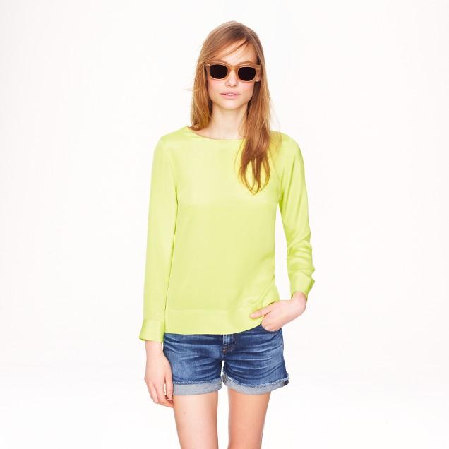Silk sweatshirt top