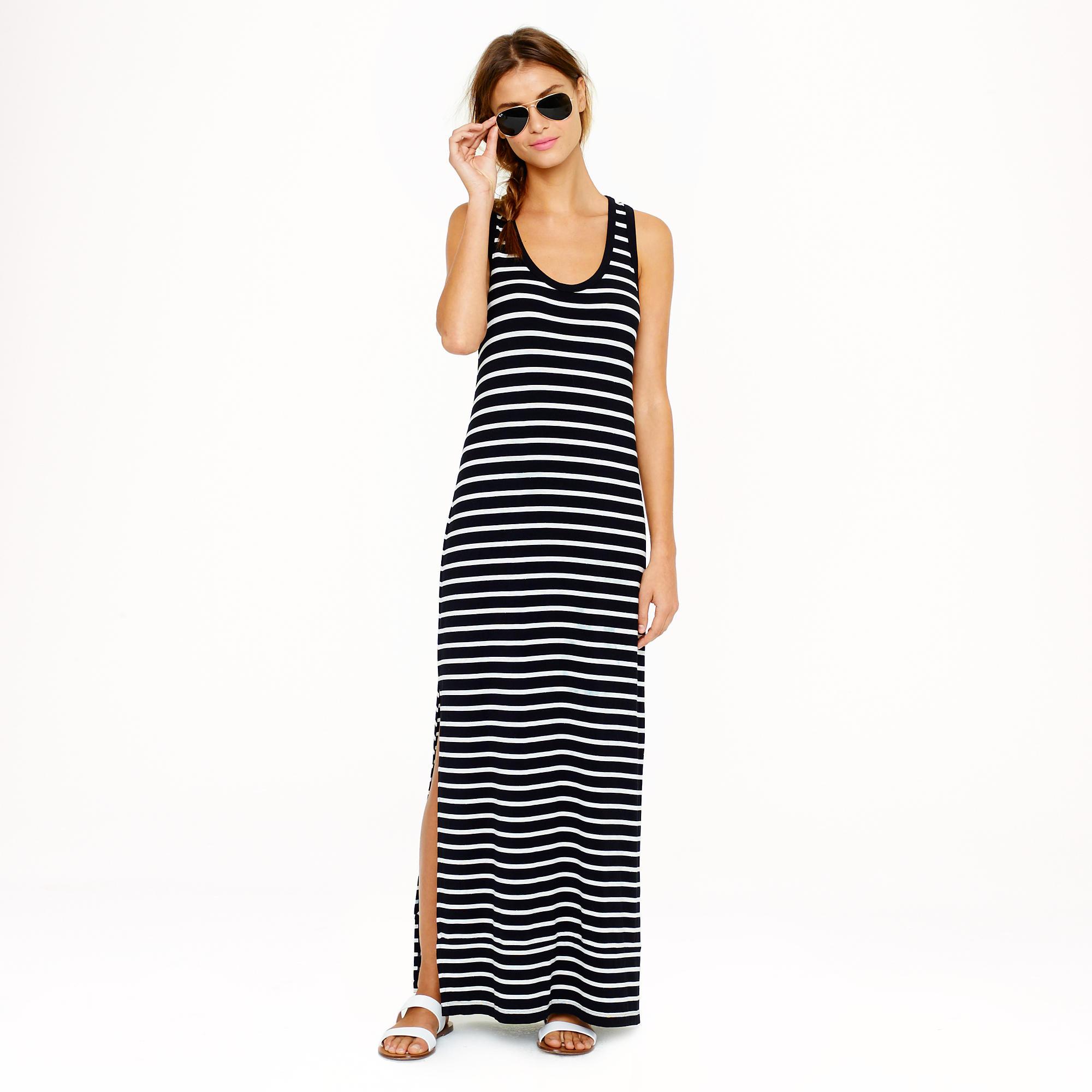 Maxi tank dress in stripe : | J.Crew