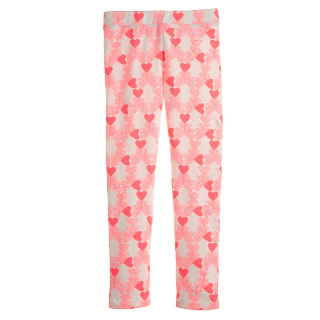 Girls' everyday leggings in neon heart