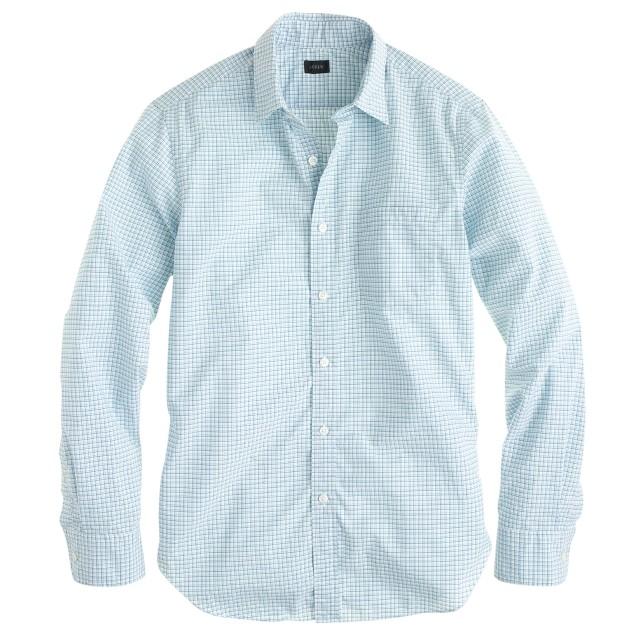 Secret Wash shirt in coastline aqua plaid