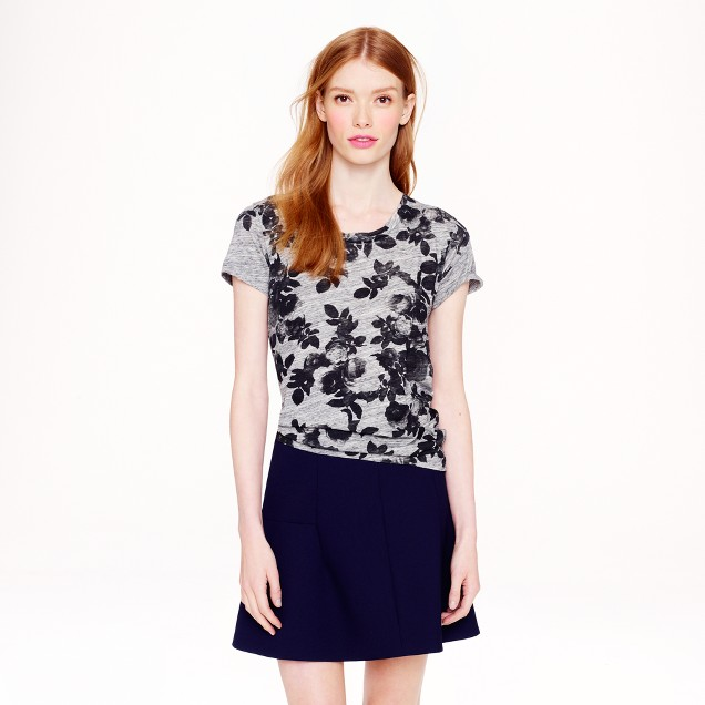 Photo floral T-shirt