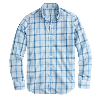 Lightweight shirt in provence blue plaid