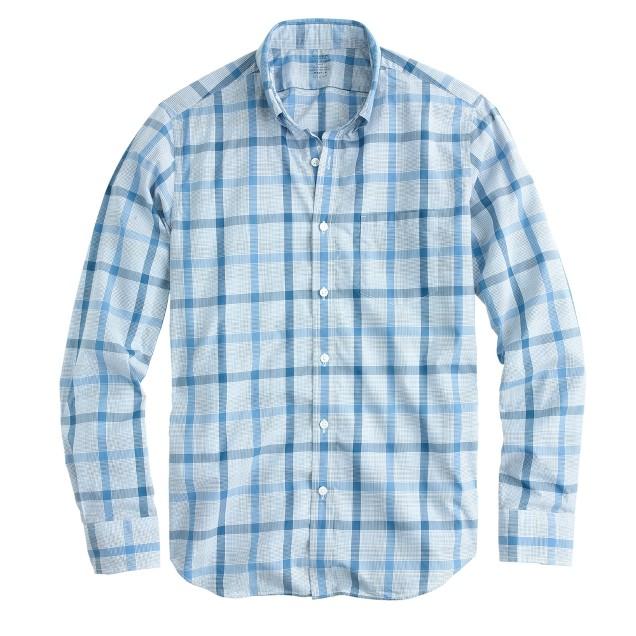 Lightweight shirt in provence blue plaid