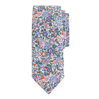 Boys' cotton tie in Liberty Emma and Georgina floral