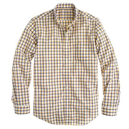 Lightweight shirt in sunset gold check