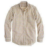 Lightweight shirt in sunset gold check