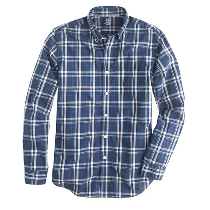 Lightweight shirt in seacrest plaid