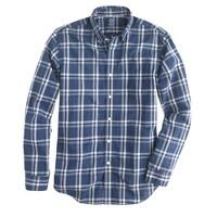 Lightweight shirt in seacrest plaid