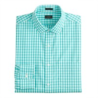 Slim ludlow Traveler shirt in pale turquoise gingham