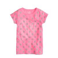 Girls' spot and heart T-shirt