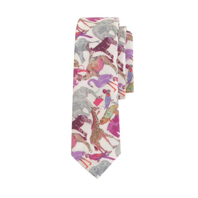 Boys' cotton tie in Liberty queue for the zoo