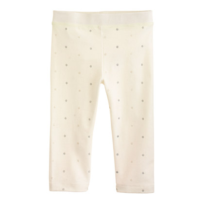 Girls' everyday capri leggings in glitter pindot