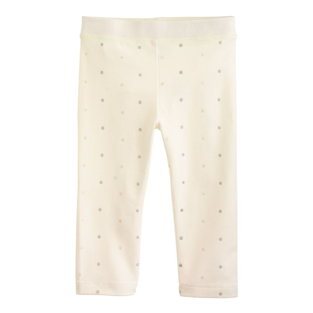 Girls' everyday capri leggings in glitter pindot