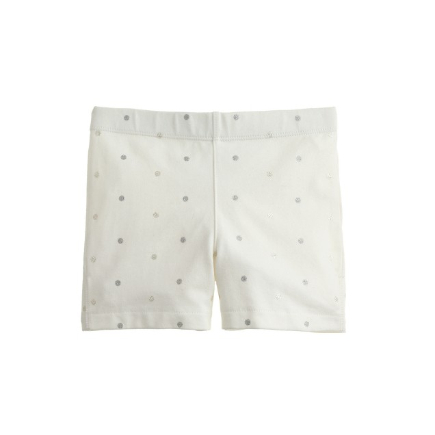 Girls' tumble short in glitter pindot