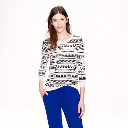 Merino wool Tippi sweater in geometric stripe
