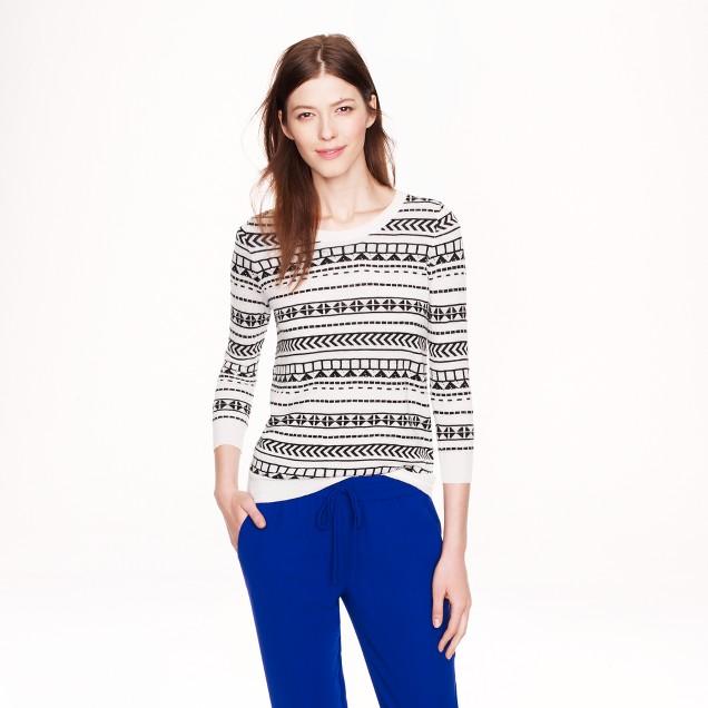 Merino wool Tippi sweater in geometric stripe