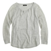 Merino wool mesh-sleeve sweater
