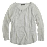 Merino wool mesh-sleeve sweater