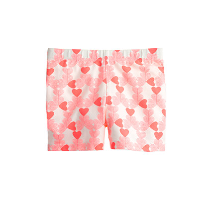 Girls' tumble short in neon heart