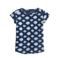 Girls' indigo star T-shirt