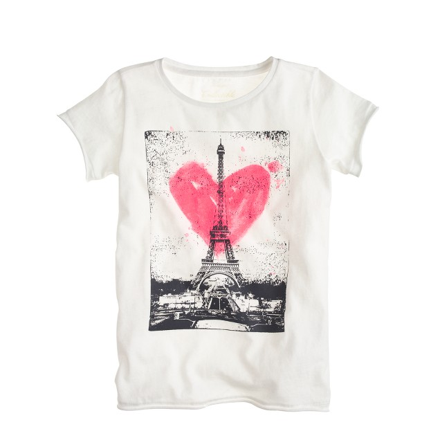 Girls' love paris T-shirt