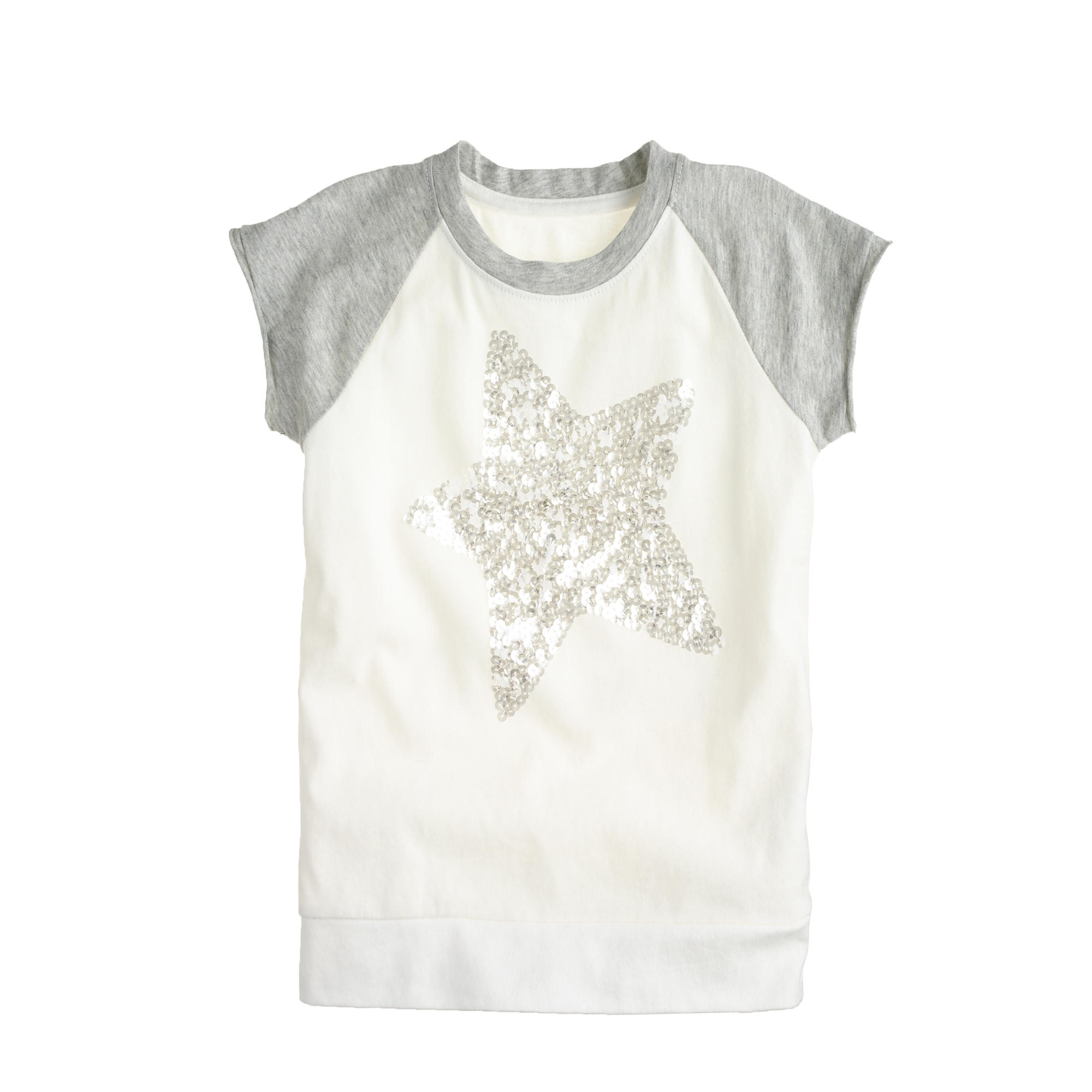 Girls 39 sequin star baseball t shirt j crew for Girls sequin t shirt