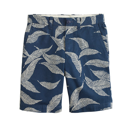 Boys' Stanton short in big leaf print