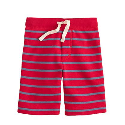 Boys' Cooper sweatshort in stripe