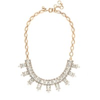 Crystal rectangles necklace