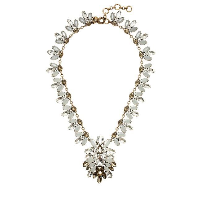 Crystal brooch necklace