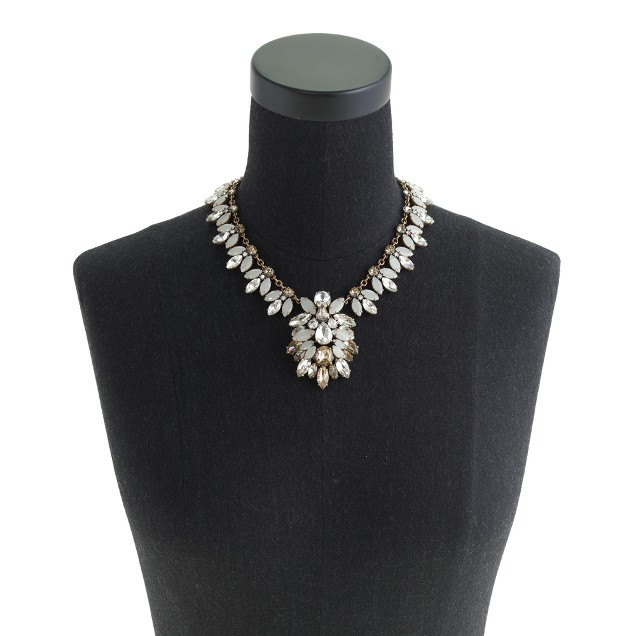 Crystal brooch necklace