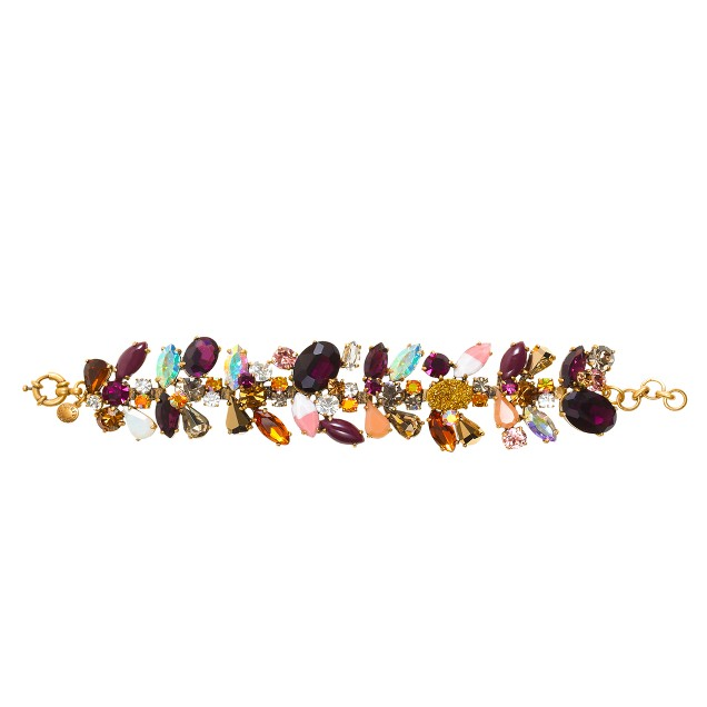 Asymmetrical stone bracelet