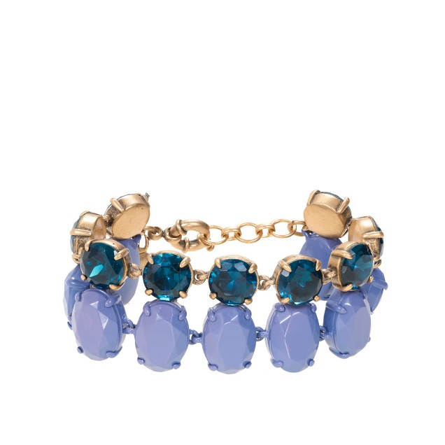 Double-row crystal bracelet