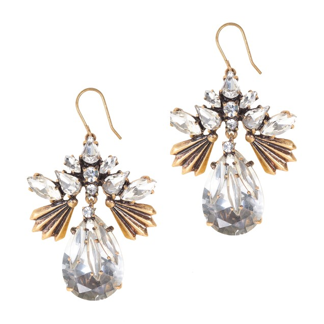 Fanned droplets earrings