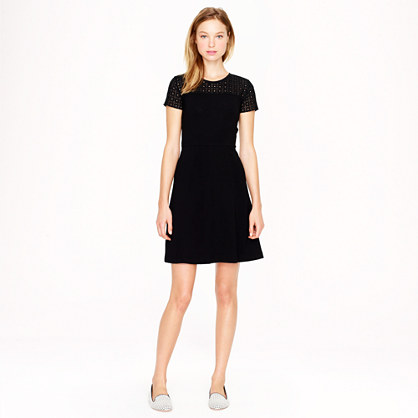 Stretch eyelet dress